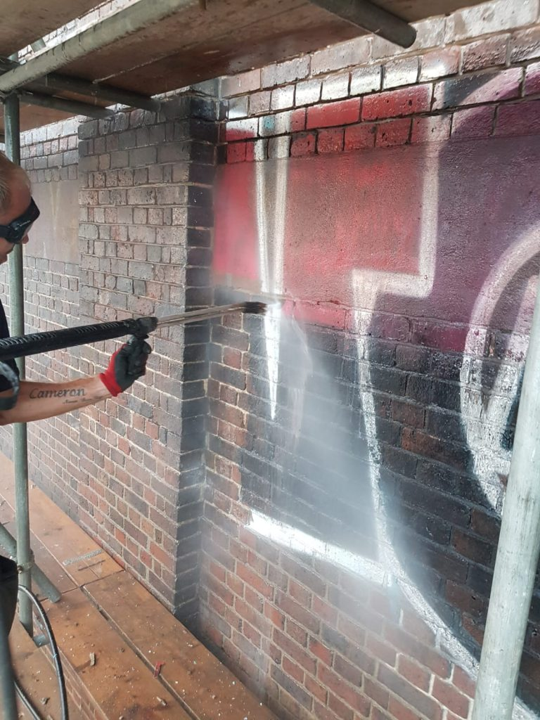 Graffiti Steam Cleaning In London