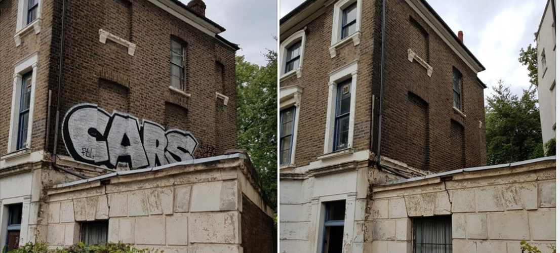 5* Facebook Review for Graffiti Removal In London