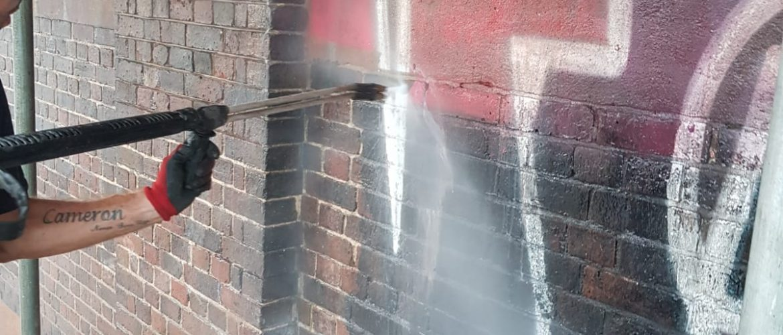 Graffiti Steam Cleaning In London
